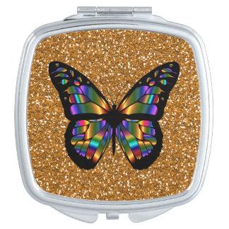 銅のグリッターのエレガントで抽象的な蝶