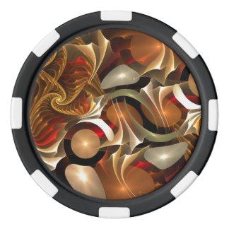 銅のサイファイの抽象美術 ポーカーチップ