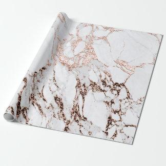 銅のバラのホワイトメタルの灰色のカラーラの大理石の石 ラッピングペーパー