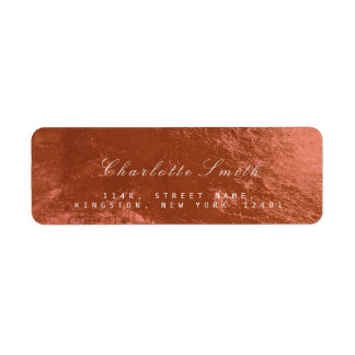 銅のピンクのバラのガラス金属の差出人住所ラベル ラベル