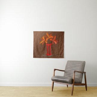 銅の一見のキャンバスのタペストリーの明るいユリ タペストリー