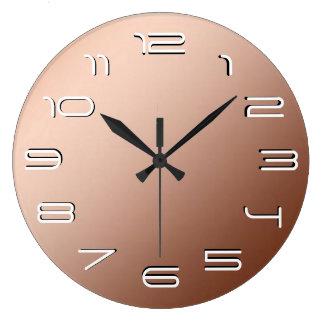 銅の優雅のシンプル ラージ壁時計