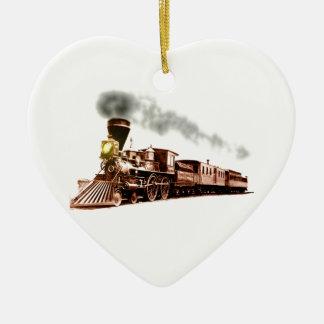 銅の列車 セラミックオーナメント