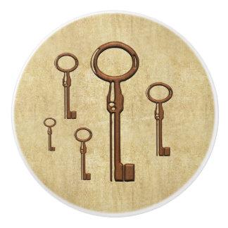 銅の合い鍵のノブ セラミックノブ