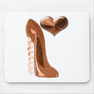銅の小剣のハイヒールの靴および3Dハート マウスパッド