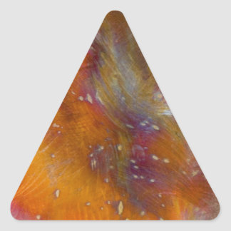 銅の着色 三角形シール