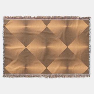 銅の輝やきのダイヤモンド スローブランケット