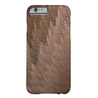 銅の青銅色のタンのタータンチェックの羽パターン場合 BARELY THERE iPhone 6 ケース