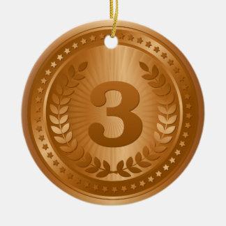 銅メダルの第3場所の勝者 セラミックオーナメント