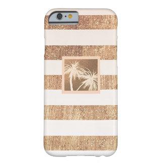銅及びクリームの熱帯ヤシの木のモダンな上品 BARELY THERE iPhone 6 ケース
