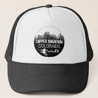 銅山のコロラド州の白黒のスキー帽子 キャップ