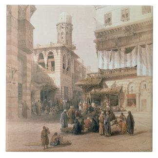 """銅細工人のバザー、""""エジプトからのカイロ、 タイル"""