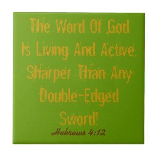 鋭いタイルの生活および活動的な神の詩! タイル