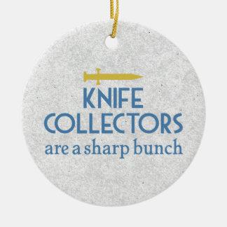 鋭いナイフのコレクター セラミックオーナメント