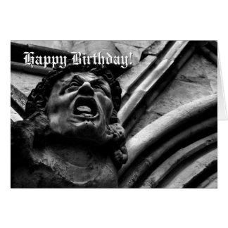 鋭い小鬼のゴシック様式ガーゴイルの誕生日の苦悶 カード