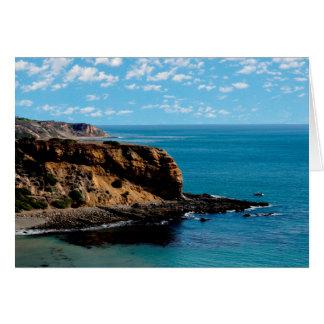 鋭い崖のアワビの入江、Palos Verdesの空白のなカード カード