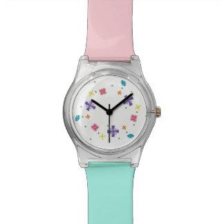 鋭い白May28thの腕時計の花のリング 腕時計