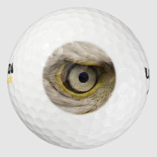鋭い目の猛禽のおもしろいな写真 ゴルフボール