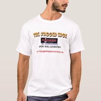 鋭い端の理髪店 Tシャツ