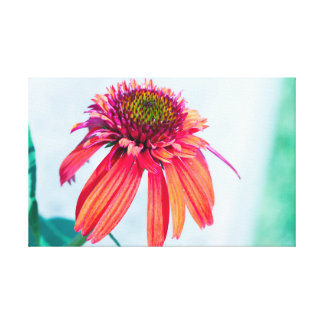 鋭い花のキャンバス キャンバスプリント