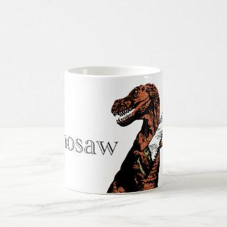 鋸を握るティラノサウルス・レックスのレックス: Dinosaw… コーヒーマグカップ