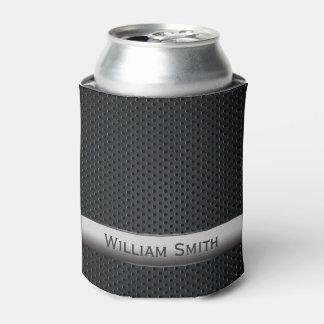 鋼鉄ストライプので暗い金属 缶クーラー