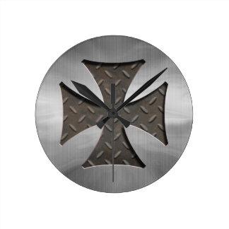 鋼鉄マルチーズ416 ラウンド壁時計