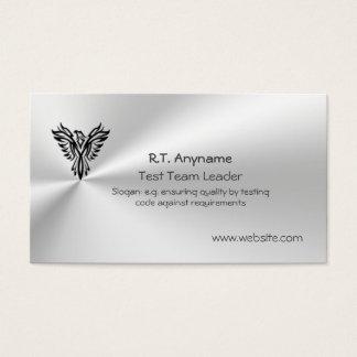 鋼鉄効果のフェニックスのロゴのチームリーダーをテストして下さい 名刺