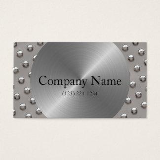 鋼鉄及びリベットのモノグラムの建築 名刺