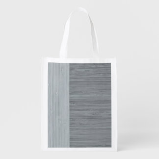 鋼鉄灰色のタケボーダー木製の穀物の一見 エコバッグ