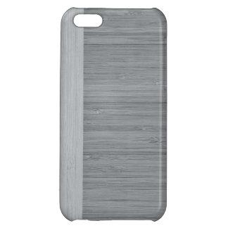 鋼鉄灰色のタケボーダー木製の穀物の一見 iPhone5Cカバー