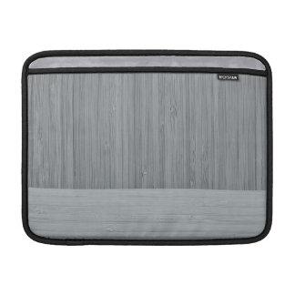 鋼鉄灰色のタケボーダー木製の穀物の一見 MacBook スリーブ