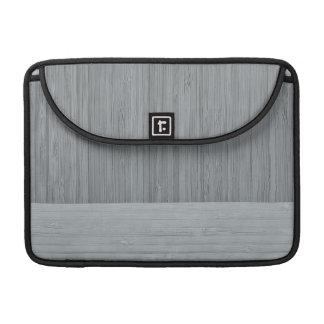 鋼鉄灰色のタケボーダー木製の穀物の一見 MacBook PROスリーブ