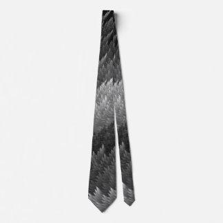 鋼鉄灰色のピューターのタータンチェックの羽パターンタイ ネクタイ