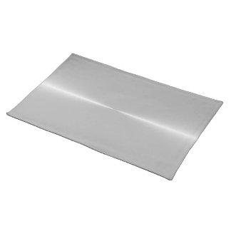 鋼鉄金属の背景のテンプレートのように光沢がある ランチョンマット