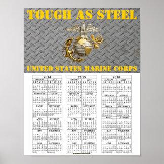 鋼鉄USMCとして堅い ポスター