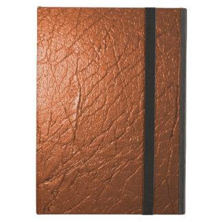 錆ついたオレンジ革PowisのiPadの箱およびKickstand