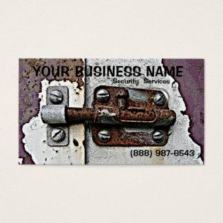 錆ついたスライド・ボルトロックの保証 名刺