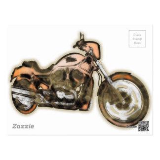 錆ついたバイク(モーターバイク) -現代美術 ポストカード