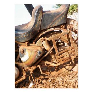 錆ついたモーターバイク ポストカード