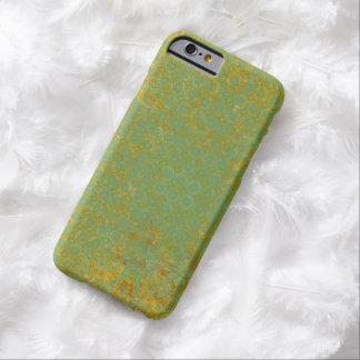 錆ついたライムグリーンパターン背景 BARELY THERE iPhone 6 ケース