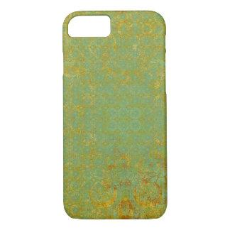 錆ついたライムグリーンパターン背景 iPhone 8/7ケース