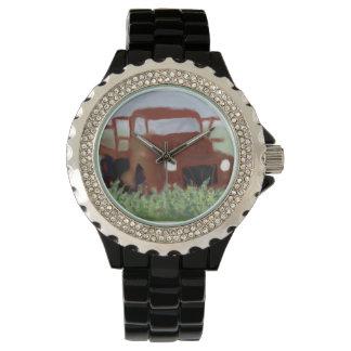 錆ついた古いトラック 腕時計