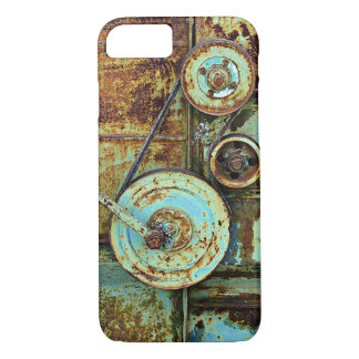 錆ついた古い機械ヴィンテージのiPhone 7の場合 iPhone 8/7ケース