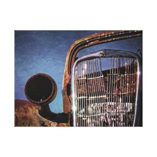 錆ついた古い車のグリル キャンバスプリント