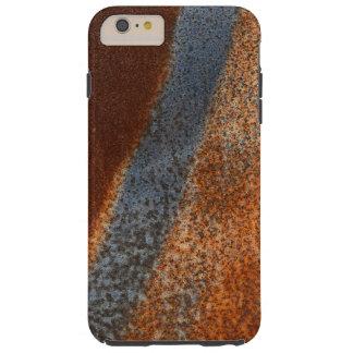 錆ついた汚された腐食されたヴィンテージの金属表面の箱 TOUGH iPhone 6 PLUS ケース