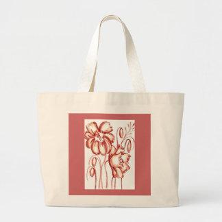 錆ついた着色された花屋のトート ラージトートバッグ