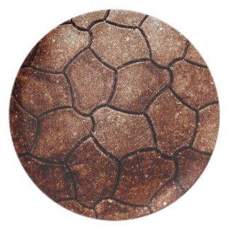 錆ついた茶色の芸術の焼跡の煙の抽象芸術の旧式ながらくたS プレート