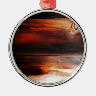 錆ついた茶色の芸術の焼跡の煙の抽象芸術の旧式ながらくたS メタルオーナメント