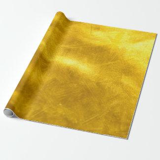 錆ついた金ゴールドのグリッター-光沢がある贅沢な金質 ラッピングペーパー